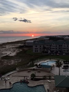 Stunning sunsets from the balcony.