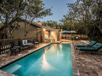 Photo for Private Heated Pool! High End Furnishings! Quick Walk to Beach or Lake!