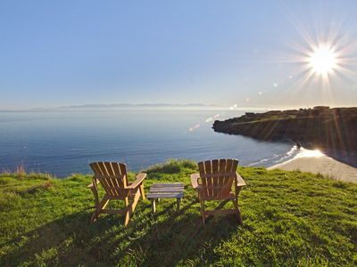 Photo for Waterfront home, amazing views, hot tub and nearby beach! (Orca Beach)