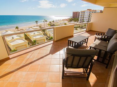 Photo for Spectacular 2 Bedroom Condo on Sandy Beach at Las Palmas Resort B-504