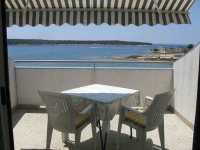Photo for Studio with terrace and sea view