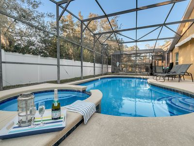 Photo for Disney home- Private Pool&Hot Tub! 4b/3ba, Sleeps 10! Close to all the  parks!!!