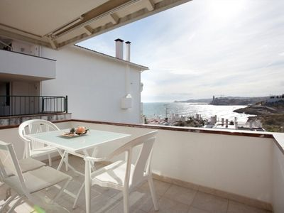 Photo for Apartment 155 m from the center of Sitges with Air conditioning, Parking, Terrace, Garden (639367)