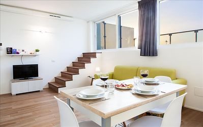 Photo for Bright duplex apartment with terrace, Venice