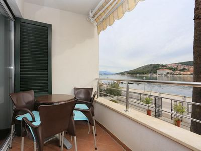 Photo for Two bedroom apartment with terrace and sea view Trogir (A-16211-c)