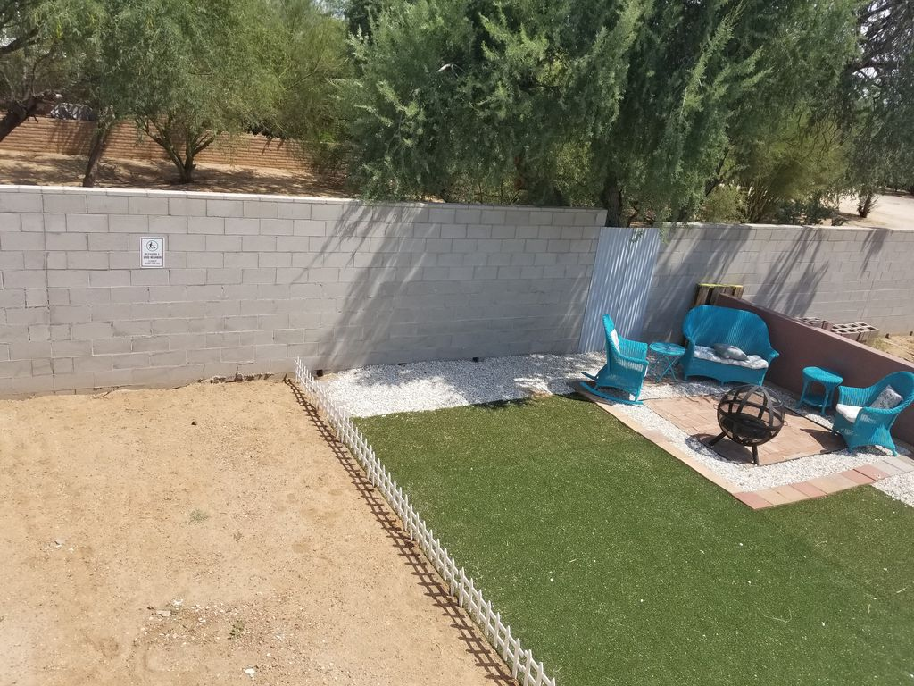 Sitting Area, With Fire Pit And Pet Relief Area