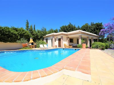 Photo for Wonderful family villa, private pool, large garden, Close to Estepona town in a quiet location