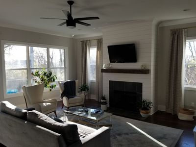 Photo for Quiet Haven just 5 mi from d-town. Beautiful new open concept, yet warm & cozy!