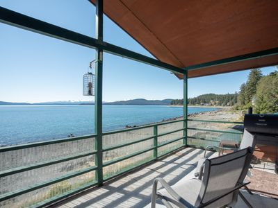 Photo for Private beach front apartment in Auke Bay