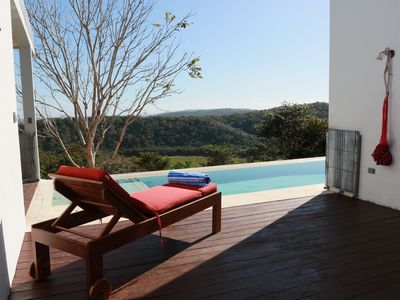 Photo for Beautiful modern house with impressive panoramic view and pool-for bird lovers