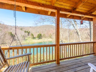 Photo for Log Cabin located in The Lakes, Mtn and Lake Views, Hot Tub, Game Tables, King Suite