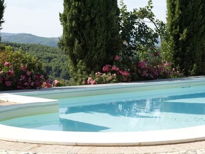 Photo for Superb villa with period furniture, large rose garden and private swimming pool