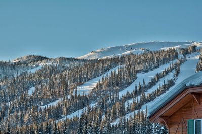 Slopes as viewed from deck.