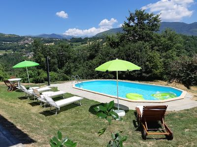 Photo for New! Cottage, private pool, beautiful mountain views, WIFI, walk to restaurant