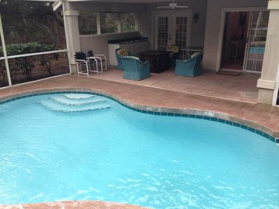 Photo for Amelia Island Summer Beach Village Home with Private Pool & Steps to the Ocean