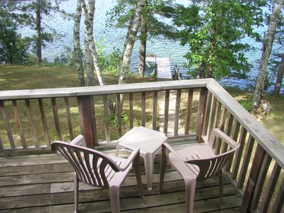Photo for Beautiful cabin with awesome lake view of crystal clear/sandy Lake Belle Taine