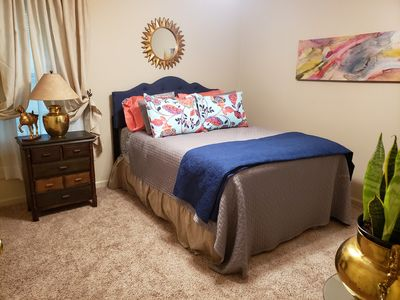 Queen bed is so comfy our guests try to buy it!