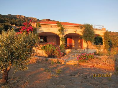 Photo for Villa with heavenly panoramic view of the sea 4 km from the beach