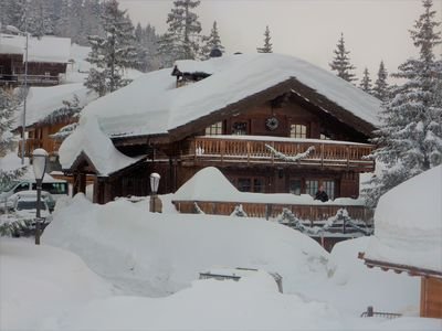 Photo for Savoyard chalet on the edge of the slope, facing south with terrace and superb views