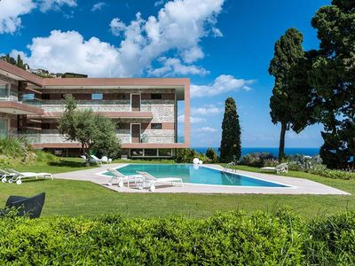 Photo for Exclusive residence with swimming pool, lovely views of Taormina and the sea