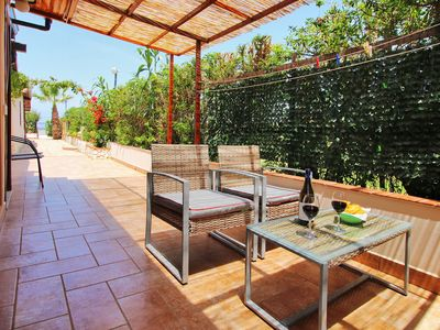 Photo for BEACHSIDE & SEAFRONT villa  at  ONLY  20  meters  FROM the BEACH  -  2 bathrooms  - 7 persons + airconditioning