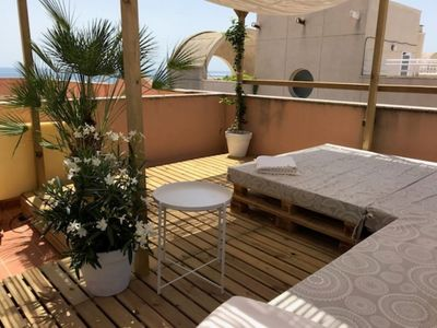 Photo for Apartment (Atico) air-conditioned 4 pers with private terrace of 50m2 sea view