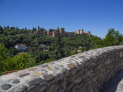 The stunning Alhambra - views within metres of the apartments.
