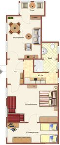Photo for Pier 1 - Apartment 1 (5 beds / 2 extra beds)