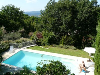 Photo for Family house, private pool in Roussillon, very nice view, sleeps 8
