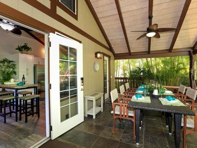 Photo for Newly Remodeled Gorgeous Island Style Bungalow - Steps to Sand, Surf, Shops!