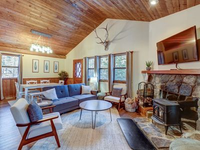 Photo for NEW LISTING! Remodeled home w/wood stove & shuttle route between 2 ski mountains