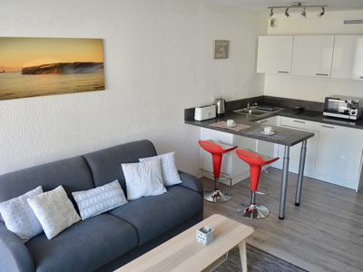Photo for Studio Biarritz Grande Plage. Everything on foot. Residence with swimming pool