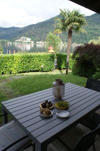 Photo for 80 m2 big 3-room part of the house right on Lake Lugano