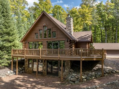 Photo for Gorgeous Northwoods Log Home!