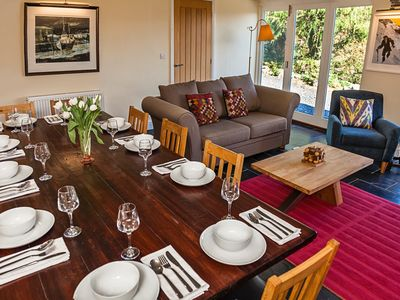 Dining room, seats 12.  Enjoy bird watching or star gazing over the valley.