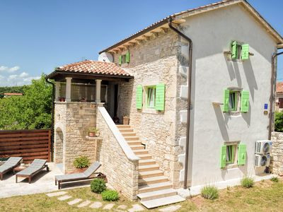 Photo for Charming stone house with private pool and garden