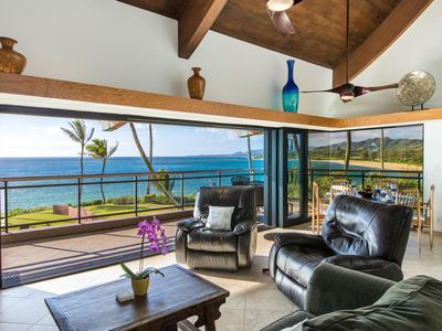 BEACHFRONT  three bedroom oceanfront penthouse on the east side