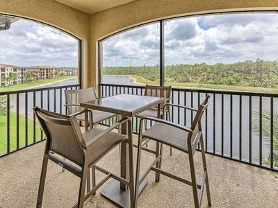 Photo for Treviso Bay like new Naples GOLF condo with top floor views.