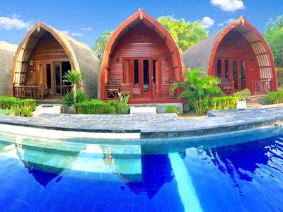 Photo for 3 Deluxe Room, Sweet Bungalow Near Gili T Beach