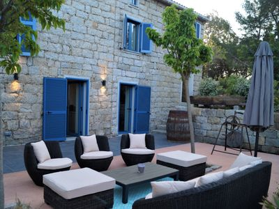 Photo for Le Moulin de Figari-Gîte-Ensuite with Shower-Family-Pool View