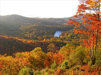 Only part of the spectacular panoramic view, in Autumn, from the back deck.