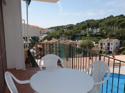 Photo for Apartment with swimming pool, very close to the beach, in the Venusmar community of Calella de Palafrugell