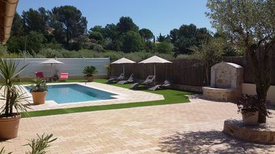 Photo for Family friendly villa  just 10 minutes walk from beautiful provencal village