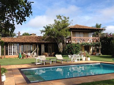 Photo for Buz041-Beautiful seven bedroom house with pool in Búzios