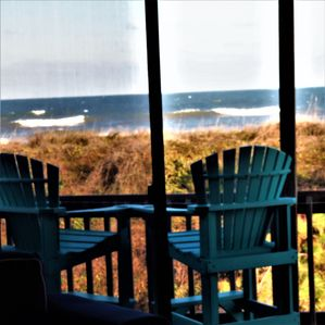 View of the surf from Dune Nest's living room.