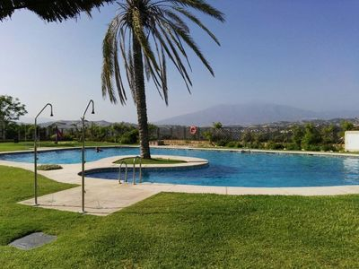 Photo for Air-conditioned holiday home with sea view and Golf course u. Pool in La Cala de Mijas