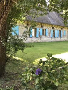 Photo for Thatched cottage full of charm near Honfleur and Deauville