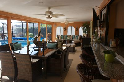 Open lanai for casual entertaining or relaxing