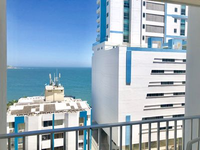 Photo for HIGH FLOOR SEA AND CITY  VIEW, BEACH FRONT  PERFECT AND CONFORTABLE