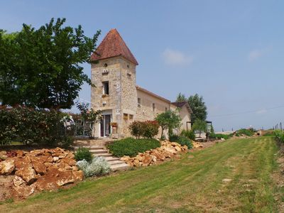 Photo for Former pigeon loft with swimming pool, surrounded by vineyards and near Bordeaux